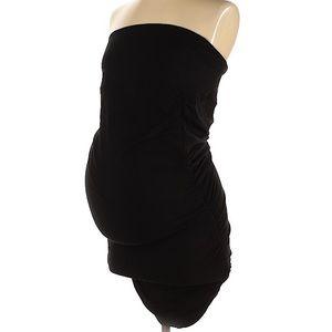 Isabella Oliver black strapless ruched dress